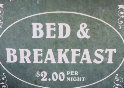 Bed and Breakfast (B+B) Frühstückspension