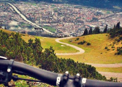 Downhillstrecke Fahrrad